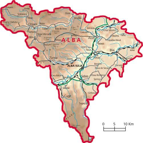 Harta judetul Alba