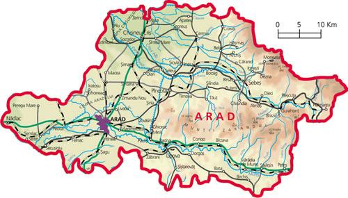 Harta Judetul Arad
