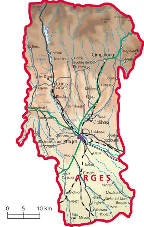 Harta Judetul Arges