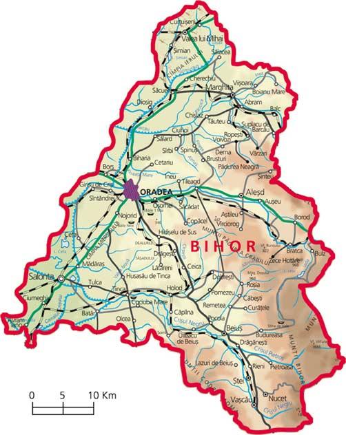 Harta Judetul Bihor
