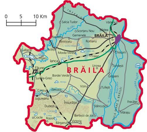 Harta Judetul Braila