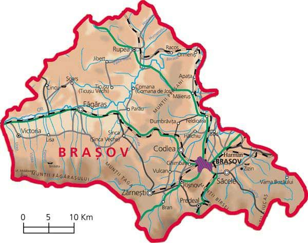 Harta judetul Brasov