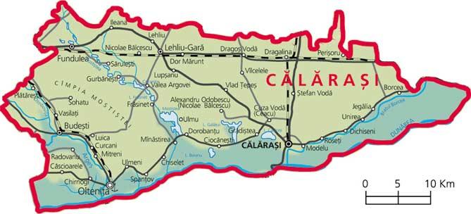 Harta Judetul Calarasi