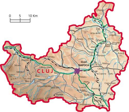 Harta Judetul Cluj