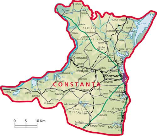 Harta judetul Constanta