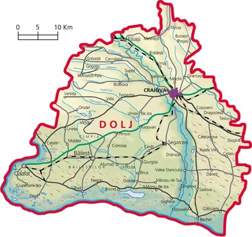 Harta Judetul Dolj