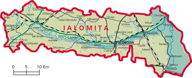 Harta Judetul Ialomita