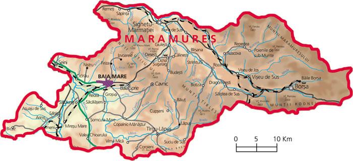 Harta judetul Maramures