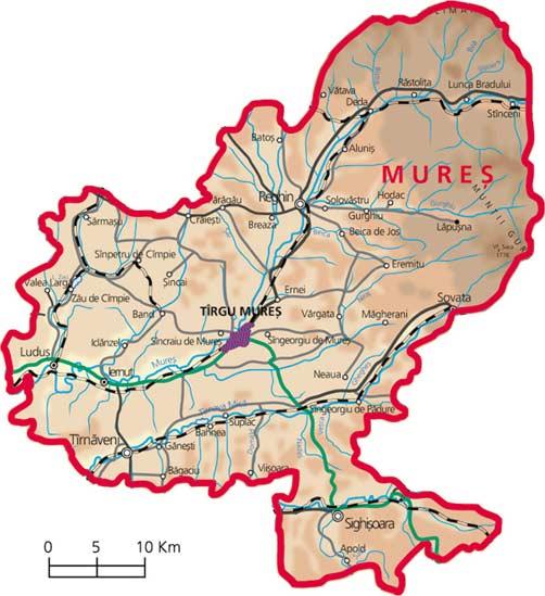 Harta judetul Mures