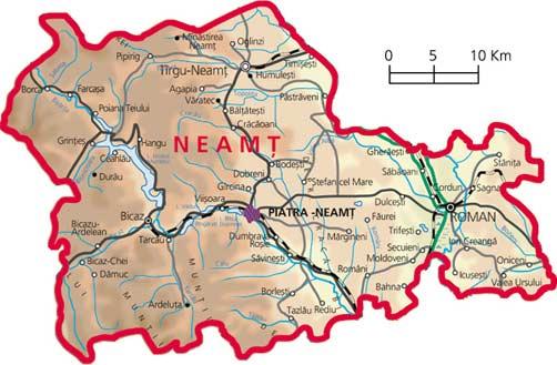 Harta judetul Neamt