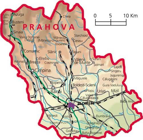 Harta judetul Prahova