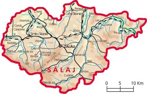 Harta judetul Salaj