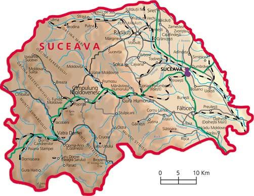 Harta Judetul Suceava