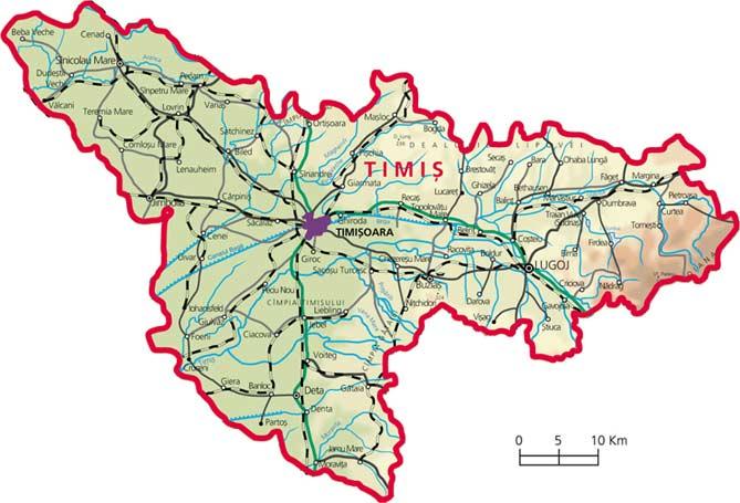 Harta judetul Timis