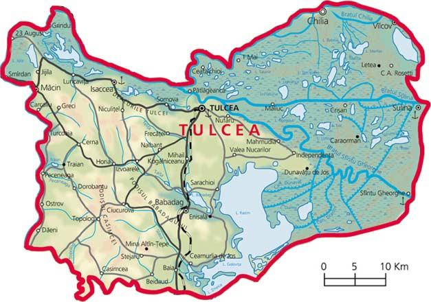 Harta Judetul Tulcea